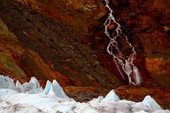 Waterfall and Icefall (Dru!) Tags: seabridgejune2016 waterfall icefall glacier stream river boundaryranges coastmountains moraine talus geomorphology bc britishcolumbia canada alpine glaciated glaciation steep