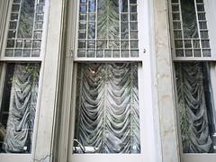 August Shade (-jamesstave-) Tags: window drapery blinds austrian shade glass reflection city urban street newyork nyc brooklyn brooklynheights iphone5s