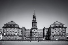 Christianborg Palace (Bill Thoo) Tags: city travel urban blackandwhite monochrome 35mm copenhagen landscape denmark sony ngc palace christianborgpalace a7r