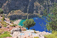 kelebekler vadisi (butterfly valley)  4 (talipcetin) Tags: travel blue sea summer holiday beach nature turkey butterfly landscape boat sailing tour yacht trkiye turquie trkei valley mavi yat fethiye turu manzara gezi kelebek tatil gemi doa mula vadisi yelkenli turkuaz kelebekler bluetour