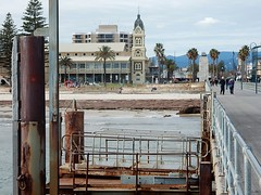Glenelg Perspectives (mikecogh) Tags: glenelg perspective jetty townhall beach hills rust
