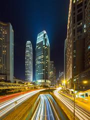 Hong Kong IFC traffic trails (wonglp) Tags: landscapephotography em10markii ifc travel m43 microfourthirds hongkong vertorama panorama landscapes mirrorless olympusomd olympus