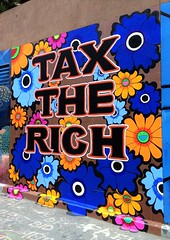 Tax The Rich (ArtFan70) Tags: taxtherich meganwilson wilson clarionalley themission mission missiondistrict sanfrancisco sf california ca unitedstates usa america art mural