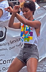 Work'n It (tacosnachosburritos) Tags: chicago pride parade gay lgbt humanity man guy girl woman chick lady hot sexy gorgeous thestreets street photography lovely attractive youth hipster windycity urban gritty beads flesh love free open queer