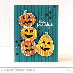 Hello Pumpkin (Torico27) Tags: mft mftstamps myfavoritethings halloween pumpkin stars stripes orange jackolantern