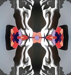 2016-07-28 symmetrical contemporary nude paintings 3 (april-mo) Tags: symmetrical nu nude contemporary painting art experimentaltechnique collage woman womanportrait
