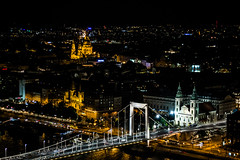 A Nightly Panorama (mikebakker2) Tags: budapest   magyarorszg ungarn hungary hungra ungheria  city   night nightphotography panorama panoramic view views longexposure light lights architecture composition cathedral church temple churches temples bridge urban exploration urbanexploration travel traveling traveler world europe europa   eurpa