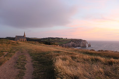 ETRETAT (Subrozza) Tags: tretat falaises chapelle sunset cloud landscape sky france normandie normandy