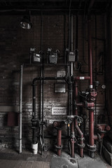 Pipes (Joel Bramley) Tags: old red steel pipes dial valve muted guage bendigo