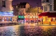 Montmartre after a Rainshower (kdv.io) Tags: paris france colors rain night montmartre amliepoulain