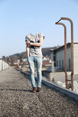26/365 faceless on the rooftop (Dominik Kym) Tags: boy rooftop surreal faceless 365 conceptual confusing photgraphy