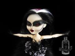 Odile the Black Swan (saijanide) Tags: white lake black apple altered high swan doll artist dolls ooak swans after custom ever mattel odette odile duchess repaint reroot faceup saijanide