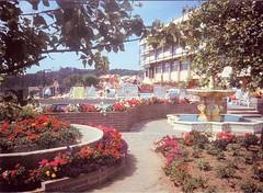 Jersey Holiday Village, Portelet Bay (trainsandstuff) Tags: vintage postcard retro jersey pontins holidaycamp porteletbay