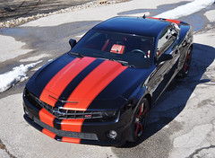 """2010 Camaro with Inferno Orange Stripes • <a style=""""font-size:0.8em;"""" href=""""http://www.flickr.com/photos/85572005@N00/16721451149/"""" target=""""_blank"""">View on Flickr</a>"""