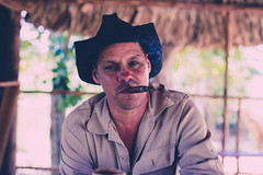 Cuban farmer (A.Fauth) Tags: street city travel people music color colour car la countryside cowboy view flag taxi smoke cuba streetphotography cigar el tabac trinidad nicho habana vinales cienfuegos musique havane