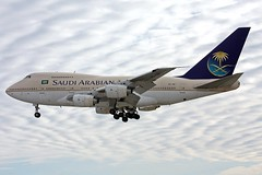HZ-AIF Saudi Arabian 747SP-68 landing at KCLE (GeorgeM757) Tags: airplane airport aircraft aviation boeing clevelandhopkins jetliner 747sp saudiarabian kcle hzaif 747sp68 alltypesoftransport georgem757