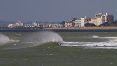 Strong winds and a rip across the Solent towards South Parade Pier (fstop186) Tags: canon pier waves wind south tide rip perspective parade 7d strong current compressed tamronsp150600mmf563divcusd