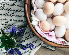 Eggs and wildflowers 2 (Caz Ann) Tags: stilllife eggs eggshell thestudioonline