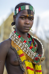 Washare from the Hamer tribe in Logara, near Turmi, Omo Valley, Ethiopia