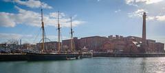 Liverpool - Tall Ship and Dock (Andrew Hounslea) Tags: england liverpool dock nikon unitedkingdom f14 g united albert 14 kingdom 24 24mm nikkor hdr albertdock merseyside d600 14g f14g afsnikkor24mmf14ged