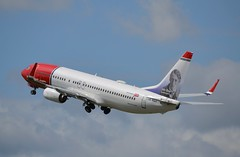Boeing 737-800 - Norwegian Air (jambox998) Tags: airport edinburgh off take lnngj