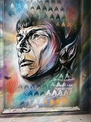 Humans are fascinating - Mr Spock tribute (IanAWood) Tags: startrek streetart london graffiti shoreditch bricklane eastend mrspock cameraphonephotography androidphotographer pauldonsmith notwalkingwithmynikon vscocam htconem8