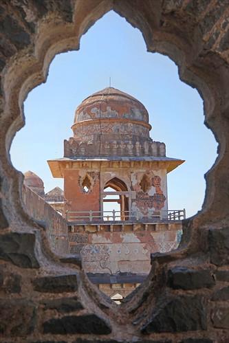 Pavillon du Jahaz Mahal (Mandu, Inde)