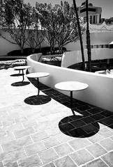 Circles (B.M.K. Photography) Tags: perthcity architecture tables shadows monochrome blackandwhite curves contrast urban courtyard perth westernaustralia australia
