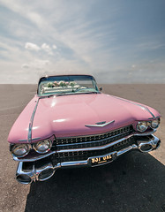 The Desert Caddy (tramsteer) Tags: tramsteer falmouth caddy caddi caddilac cornwall desert uk pink colour colors