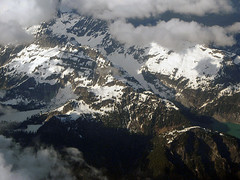 Cascades from the Air (Mike Dole) Tags: aerial cascades twinlakes washingtonstate cascademountains blancalake henrymjacksonwilderness kyespeak columbiapeak
