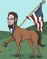 the most patriotic horse (Erik.Miller) Tags: horse illustration flag abraham miller lincoln erik patriotism illiteracy falg