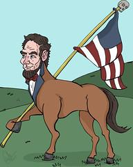 the most patriotic horse (Erik.Miller) Tags: horse illustration flag abraham miller lincoln erik patriotism illiteracy falg
