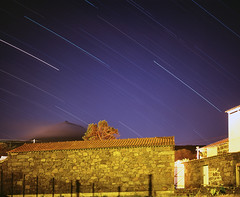 Star trails (Vitaliy AK) Tags: stars trails startrails barn village pico azores film fuji provia night longexposure volcano largeformat