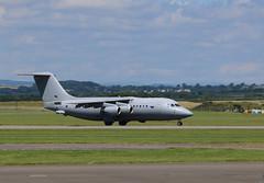 ZE708 leaving. (aitch tee) Tags: aircraft takeoff bae146 pmvisit militaryaircraft royalairforce walesuk cardiffairport ttail vipvisitor ze708 maesawyrcaerdydd cwlegff 18july2016
