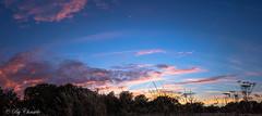 Beautiful world (christelerousset) Tags: bleu coucherdesoleil limousin champ campagne nuages couleurs