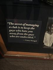 Words of Wisdom from Casey Stengel (JenGallardo) Tags: bbhof caseystengel cooperstown museum nationalbaseballhalloffame nbhof newyork newyorkstate ny stengel upstate