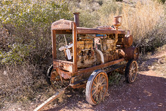 Portable Air Compressor (nikons4me) Tags: arizona az jerome portable aircompressor goldkingmineghosttown nikonafsdx18200mmf3556gifedvr nikond7100 woodenwheels gasengine ingersollrand old vintage rust rusty