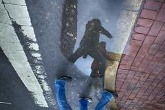 Chestnut Street, 2016 (Alan Barr) Tags: street people color reflection philadelphia reflections mirror candid streetphotography sp streetphoto gr mirrorimage ricoh chestnutstreet 2016