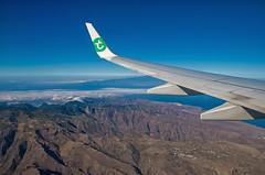 Boeing 737-800 PH-HSJ Transavia Airlines Flight HV6671 to Tenerife (Wesly van Batenburg) Tags: boeing 737800 phhsj transavia airlines flight hv6671 tenerife flying la gomera weslyvb weslyvanbatenburg pentax pentaxk5 tamron 18250 airplane aviation airliners airliner airline