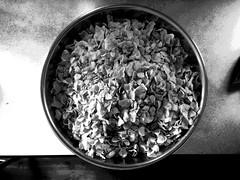 Big Bowl of Corn Flakes (byzantiumbooks) Tags: werehere hereios blackandwhite cornflakes bowl circle