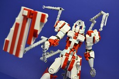 Medic_12 (Shadowgear6335) Tags: red white robot lego system technic medic bionicle moc shadowgear shadowgear6335