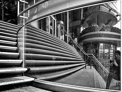 - the mirror and I - (-wendenlook-) Tags: bw berlin monochrome architecture panasonic potsdamerplatz architektur sw 123528 dmcg6