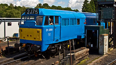 31289 (JOHN BRACE) Tags: 1961 brush loughborough built a1a class 31 d5821 renumbered tops 31289 january 1974 seen tunbridge wells west spa valley railway light blue livery named phoenix