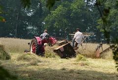 Harvest as in the old days (2) (joeke pieters) Tags: 1280734 panasonicdmcfz150 oogsten harvest trekker tractor landelijk rural haaksbergen twente overijssel nederland netherlands holland