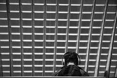 Viewfinder--straatfotografie-station-gare-guillemins-luik-mensen-43 (sven.vansantvliet) Tags: gare station gareguillemins guillemins stationguillemins luik lige mensen people gens waiting boring reading vervelend vervelen verveling vuilbak rood rouge red lijnen lines line lijn compositie oma grandmother grandmre wachten