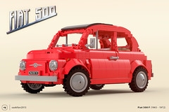Finally revealed! (gabriele.zannotti) Tags: fiat 500 car lego ideas project render blender 3d mecabricks