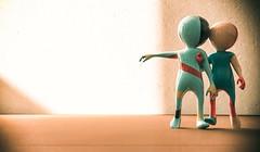 Untitled (Cammino & Vivo Capovolto  Claudio ) Tags: rendering claudio coppia couple ombre luci luce camera sogno cinema photoshop filtro musica
