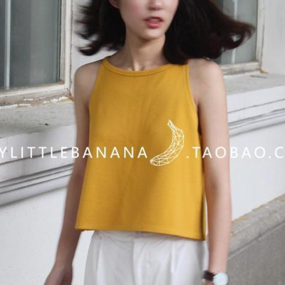 Cropped knit Halter summer 2016 new easing Korean female students wearing vest sleeveless strapless wave
