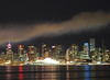 Vancouver, Canada at Night with Smoke (Tamas V) Tags: vancouver britishcolumbia british columbia 75 75mm 75mm18 18 f18 fourthirds microfourthirds omd olympus omdem5 oly olympusomdem5 olympusomd em5 canada westcoast westerncanada downtown skyscraper skyscrapers night longexposure longshutter water harbor harbour canadaplace vancouverlookout tower office officetower reflection reflections cloud smoke haze fog foggy cloudy clouds nightphotograph nightphotography mirrorless travel traveling travelling travelphotography lights color colorful istock stockphotograph stockphotography stock gettyimages getty canadaday prime m43 43 urban city outdoor architecture skyline burrard inlet burrardinlet