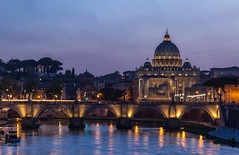 Ponte Sant'Angelo (Allen Castillo) Tags: rome italy vatican tiber tiberriver dusk night bluehour nikond610 nikon28300